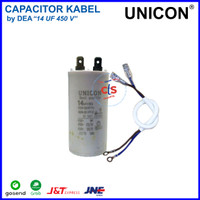 14 uf - 450V Kapasitor (Capacitor) Kabel UNICON (Spare Part Pompa Air)