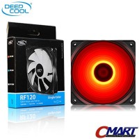 DeepCool Fan Casing LED 12cm case cooler MERAH Deep Cool FLED-RF120-RD