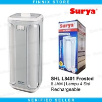 SURYA SHL L8401 Frosted Lampu Led Emergency Darurat Rechargeable