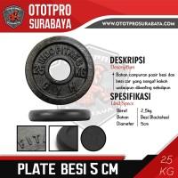 [5 CM] Plate Barbell Besi 2,5 KG /Iron/Lempeng/Lempengan/Fitness/Gym