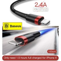 Baseus Kevlar USB Cable For iPhone X 11 8 7 6s Plus 2.4A Fast Charging