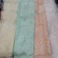 Brukat kain Kebaya Pengantin Akad Gaun Dress Gamis Pastel