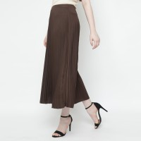 Eiza by duapola Plisket Aline Maxi Skirt 7176 - Dark Brown