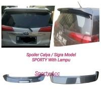 Spoiler Calya / Sigra Model SPORTY With Lampu