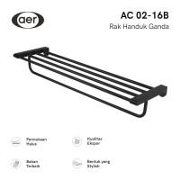 AER Double Towel Rack / Rak Gantungan Handuk dinding AC 02-16B