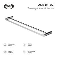 AER Double Towel Bar / Rak Gantungan Handuk dinding ACB 01-02