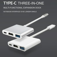 Kabel Converter Adaptor Extention Type C 3.1 to HDMI/USB/Type C 3 in 1