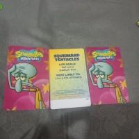 squidward / kartu timezone spongebob bisa ditukar max 3000 tiket