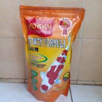 pakan ikan koi hokky fishfood growth formula isi 1 kg.