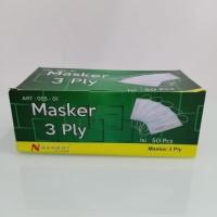 Masker (Anti Corona) Mask 3ply Earloop (100% Baru) harga perpcs