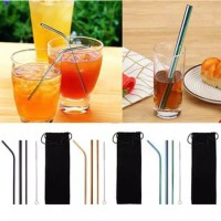 Sedotan Stainless Set / Stainless Straw Set New