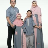 Baju Muslim Sarimbit Keluarga Nibras Family 70 Abu Tua Set Couple 2020