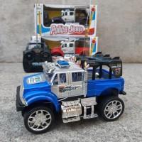 RC Police Jeep Driver Mainan Mobil Remote Control MURAH