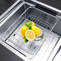 wire basket tarik kitchen sink Stainless/Rak piring stainless