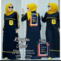 gamis maxi dress baju muslim wanita kaos xl jumbo bigsize big size