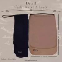 Cadar Niqob Karet 2 Layer Sifon Silk Arab