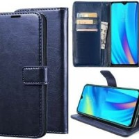 FLIP COVER WALLET Realme 5 LEATHER CASE COVER KULIT