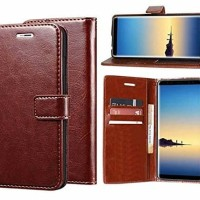FLIP COVER WALLET Oppo A7 LEATHER CASE COVER KULIT