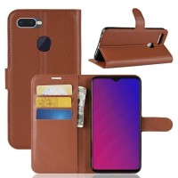 FLIP COVER WALLET Oppo F9 LEATHER CASE COVER KULIT