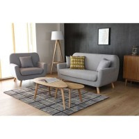 sofa retro scandinavian set + meja
