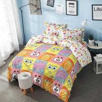Bed Cover King Kintakun 3D Santika Deluxe / D'luxe Spongebob