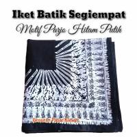 Iket Kepala Batik / Udeng Jawa Segiempat Motif Parjo Hitam Putih