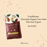 FREE KUAS MASKER - Crushlicious Chocolate Organic Face Mask