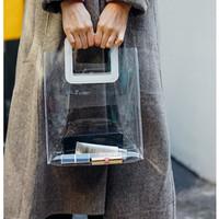 Tote Bag Mika PVC Transparan 25x30 / Goodie Bag Wanita