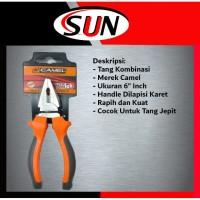 """Tang Kombinasi Jepit Potong 6 """" inch Camel"""