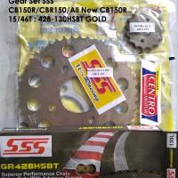 Gear SeT Rantai SSS All New CB150R 15 46T 428 130 HSBT GOLD