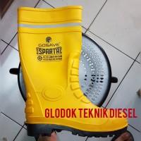 Sepatu Boot Karet Safety Ujung Besi Gosave Steel Safety Shoes Rub