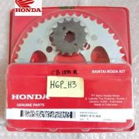 Gear rantai set old cb150R cb 150 R lama original HGP HONDA AHM 0