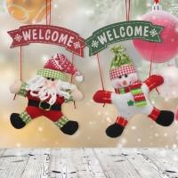 JMS - Santa Claus Snowman Christmas Door Hanging Ornament Tree