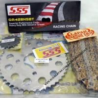 GEAR SET GEARSET SSS CB150R CBR150 MEGAPRO 428 15 47 RANTAI HSBT S