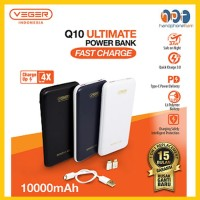 NEW Powerbank Veger ULTIMATE Q10 Quick Charge QC 3.0 10000MAh