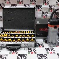 Paket Mesin Router Profil Trimmer Maktec MT370 Router Bit Set 35pc