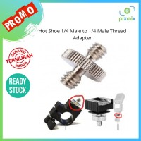Hot Shoe 1/4 Male to 1/4 Male Thread Adapter