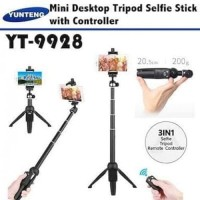 Yunteng YT-9928 2 IN 1 / Mini Dekstop Tongsis Tripod Selfie Stick