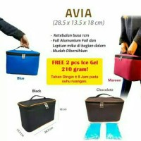 Cooler Bag Asi Avia / Tas penyimpan asi free 2 blue ice gel