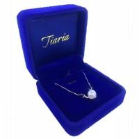 Tiaria Premium Jewelry Royal Blue Velvet Colour Necklace Box Kotak