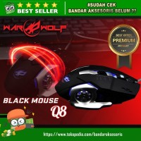 GAMING MOUSE/MOUSE GAMING WARWOLF Q8 WITH LED LIGHT MACRO