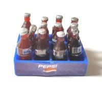 Miniatur Toygraphy 1/12 - Pepsi botol kecil + krat set for figma shf