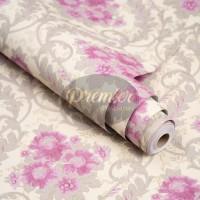 Batik Ungu Latar Cream Wallpaper | 45CM x 10M