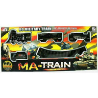 Mainan Anak - MA Military Train Kereta Api Asap Militer Track Play Se