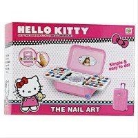 Mainan Anak Perempuan Alat Make Up Dandan Hello Kitty Nail Art Koper