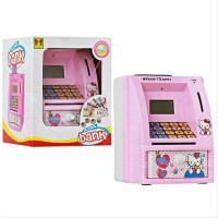Mainan Edukatif / Edukasi Anak Celengan ATM Bank Mini Hello Kitty Uan