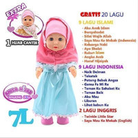 Mainan Anak Perempuan Boneka Anisa Hijab Walking Doll Talking Singing