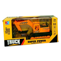 Mainan Anak - Remote Control Truck Super Power RC Excavator Truk Beko