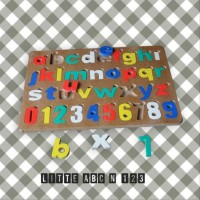 Mainan Edukatif / Edukasi Anak - Puzzle Balok Kayu - Little ABC and