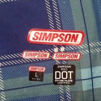 sticker stiker Helm Simpson 1 set